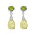 Cassidy Halo Drop Down Earrings - Yellow Pear W059