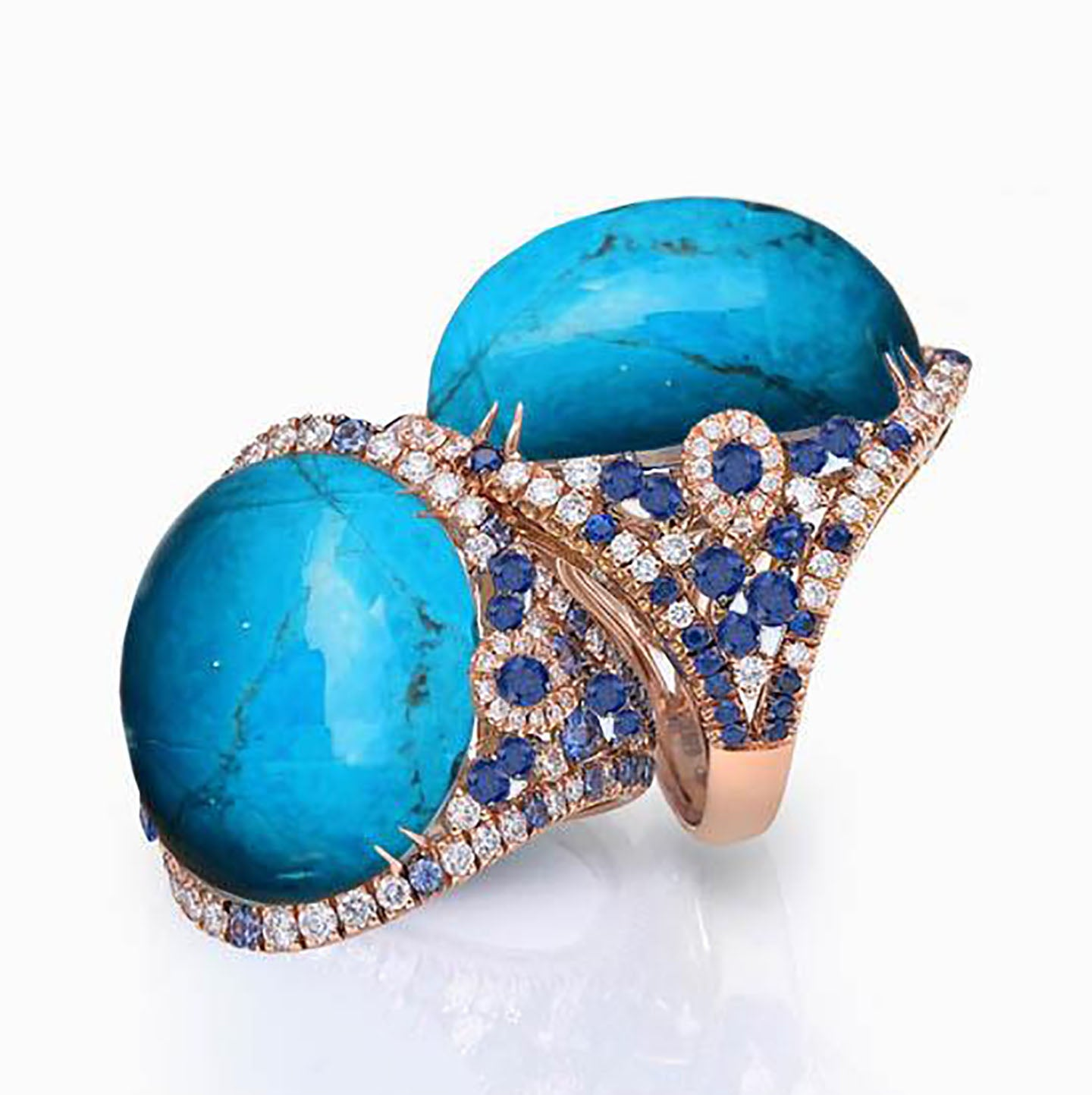 Bluta Cocktail Ring - Electric Blue Oval W068