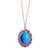 Gardenia Multicolour Halo Pendant - Electric Blue Oval W070