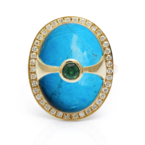 Zade Halo Ring - Electric Blue W069