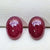 Ruby Red Oval Cabochon Pair 2.1CT G034