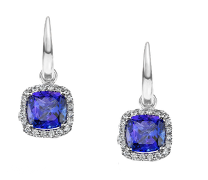 CHANDY HALO TANZANITE EARRINGS W119