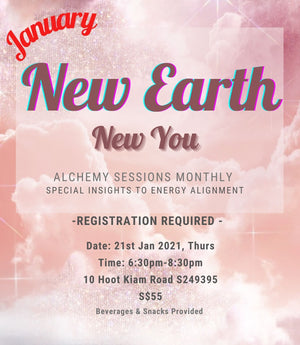 "Meditation Alchemy Sessions- ""New Earth, New You"" 21st Jan 2021, Thursday"