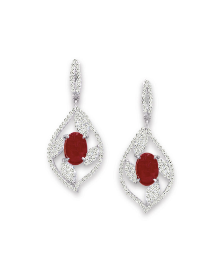 Emilie Gala Earrings - Red Oval W106