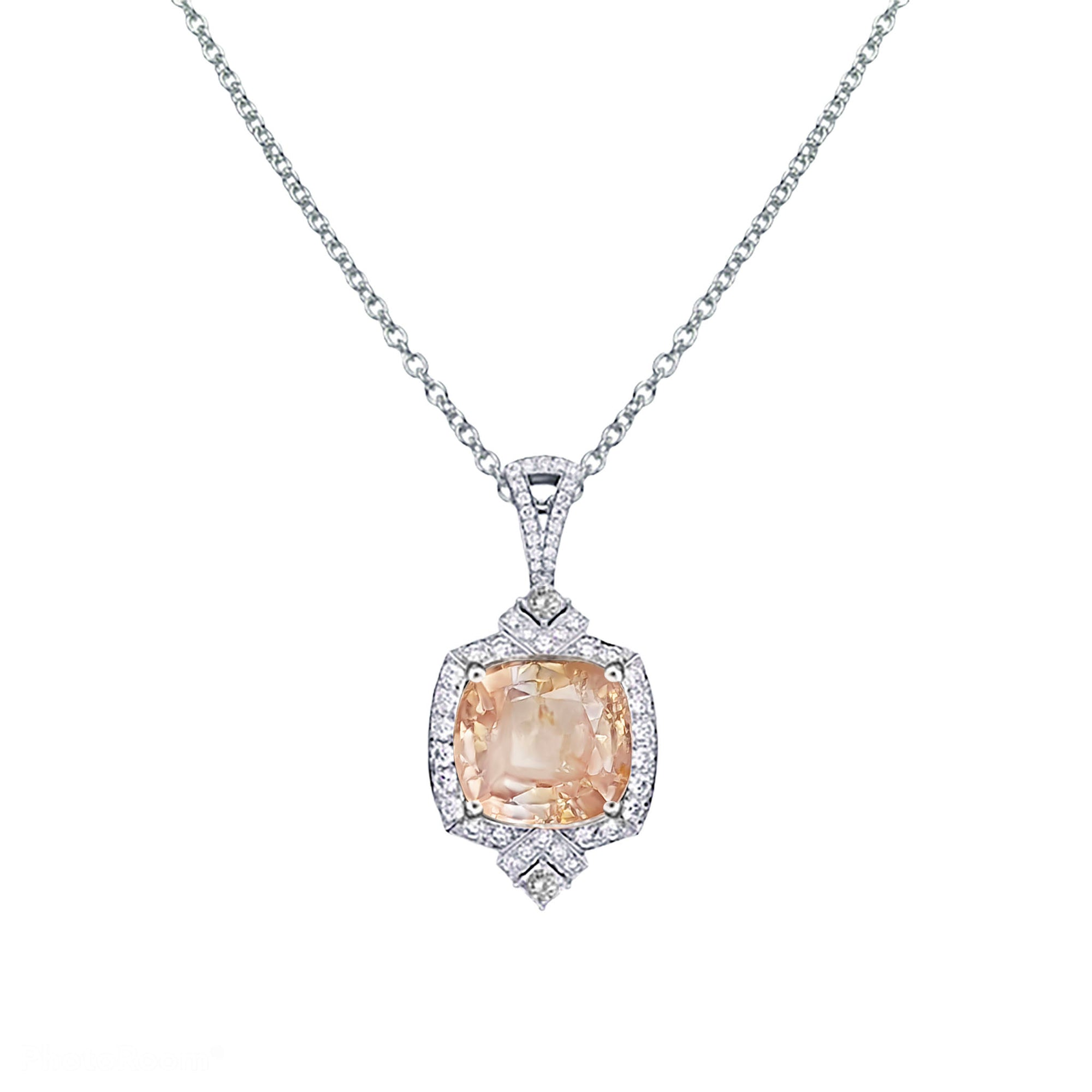 Gioni Halo Pendant - Pink Cushion W129
