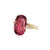 Marino Solitaire Gemstone Ring - Pink Oval W130