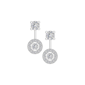 Elein Halo Dancing Diamond Detachable Earrings W155 K413