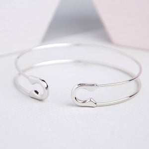 Safety Pin Bangle and Infinity Bangle AG643 AG670