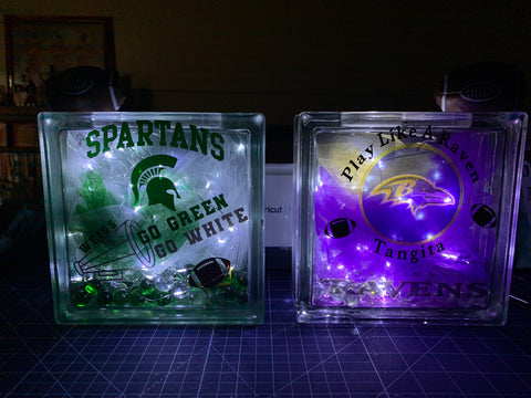 Custom Lighted Glass Block