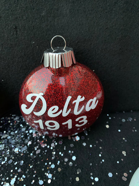 Delta Christmas Ornaments (Red)