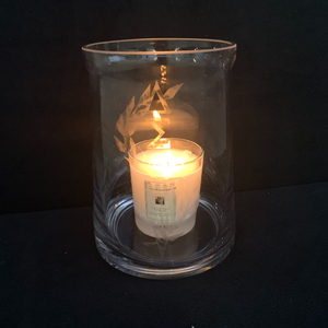 Etch Glass Candle with Delta Torch