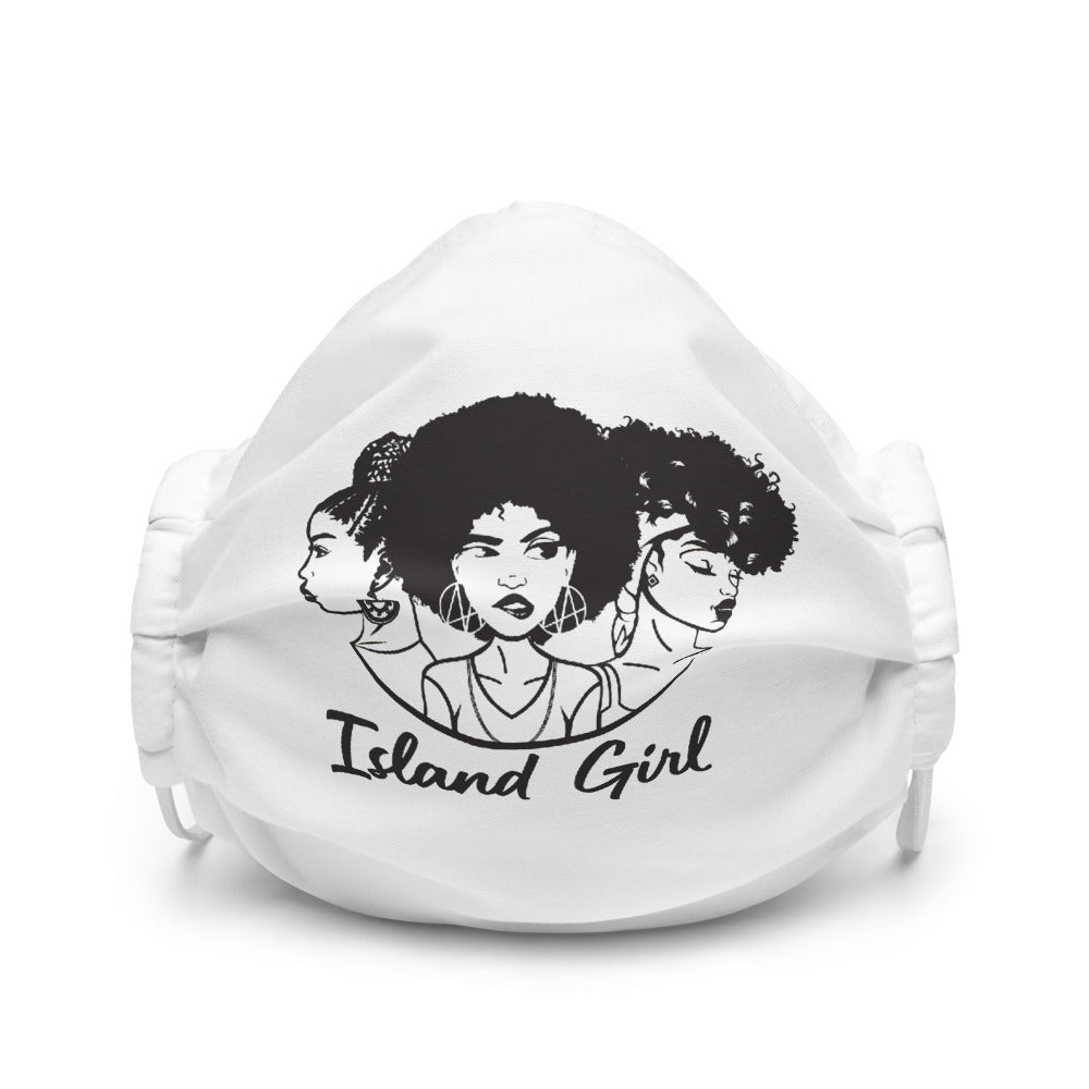 Black & White Island Girl Face mask