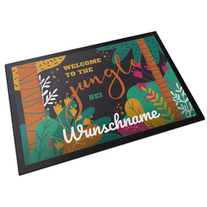 Fußmatte mit Namen - Jungle - Partycards_de