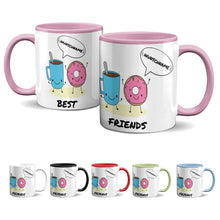 Laden Sie das Bild in den Galerie-Viewer, Tasse -Best Friends - Donut & Kaffee - Partycards_de