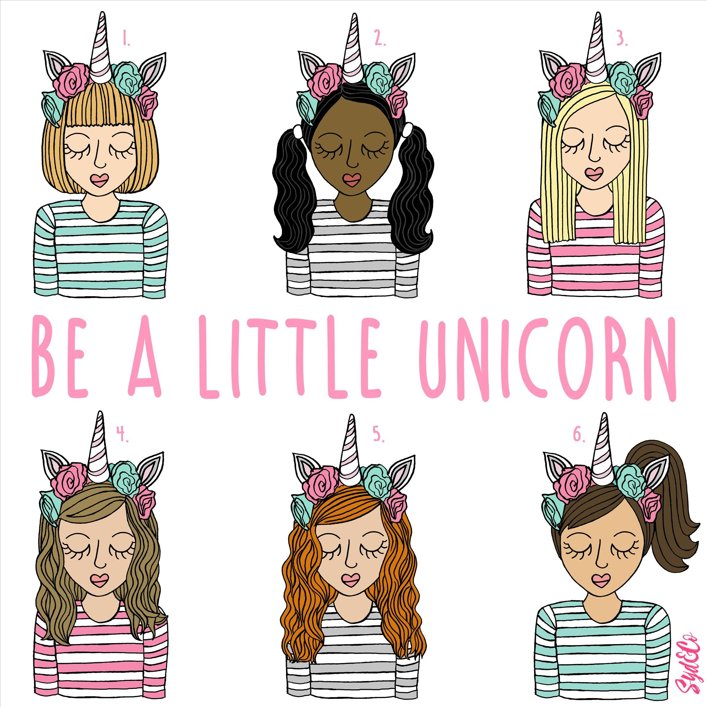 Personalised Be A Little Unicorn Children's Print