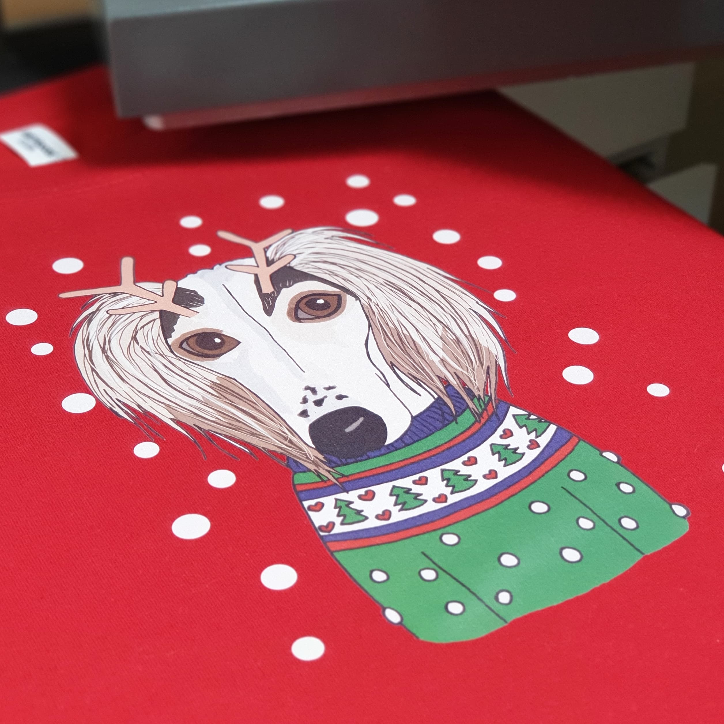 Personalised Christmas Dog Lover Jumper
