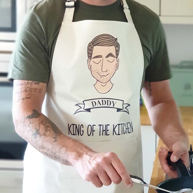 Personalised 'King of the Kitchen' Mens Apron
