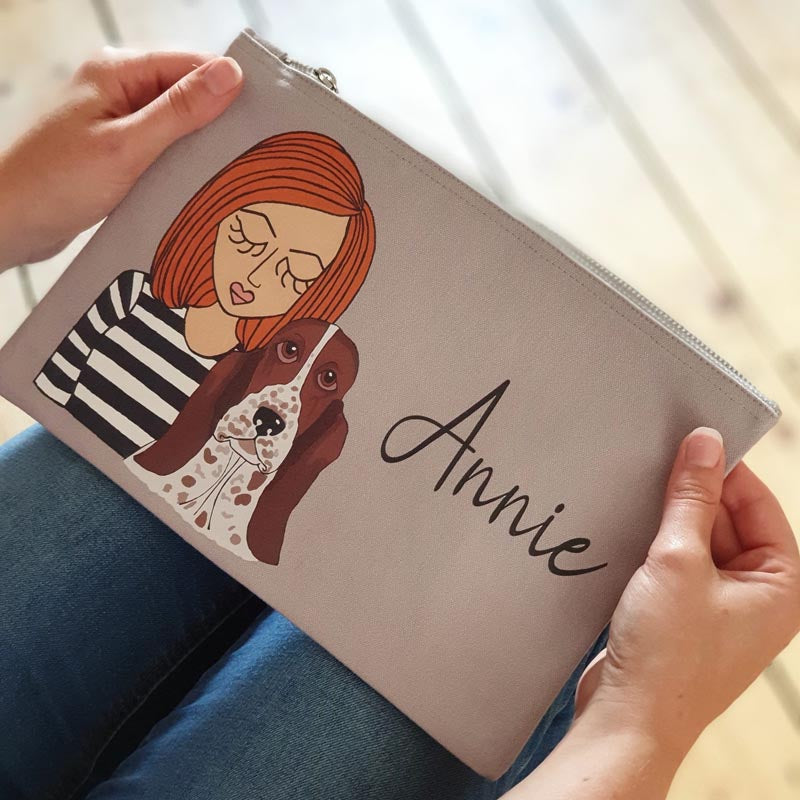 Personalised Dog Mum Makeup Bag