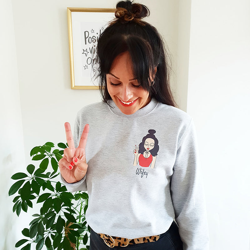Personalised Wifey Sweatshirt