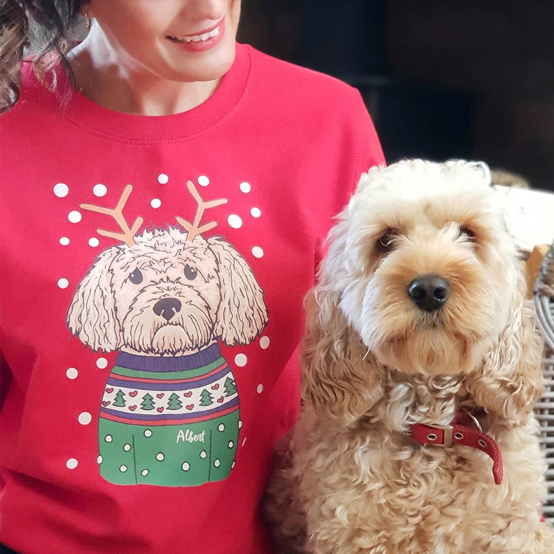 Personalised Christmas Dog Jumper