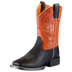 Ariat | Kids Quickdraw Choc Elephant Print/Mandarin