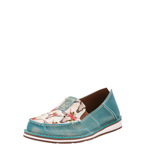 Ariat | Women's Cruiser Shimmer Turquoise/Steers and Roses Print