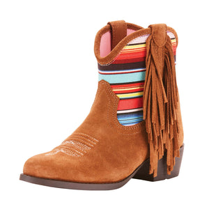 Ariat | Kid's Duchess Brown Suede/Pink Serape - Outback Traders Australia