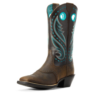 Ariat | Women's Round Up Melrose Distressed Brown/Dark Java - Outback Traders Australia