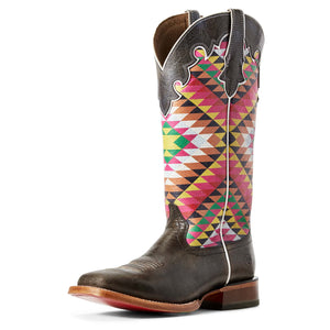 Ariat | Women's Fonda Iron Grey/Eye Dazzler Aztec - Outback Traders Australia