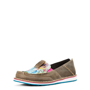 Ariat | Women's Cruiser Brown Bomber/Floral Cactus Print - Outback Traders Australia