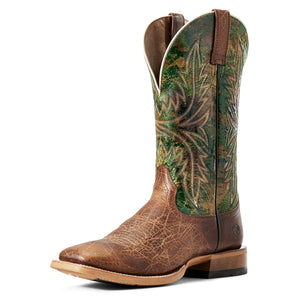 Ariat | Men's Cowhand Tobacco Toffee/Moss Green - Outback Traders Australia