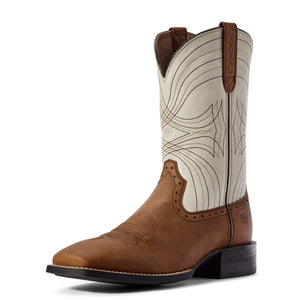 Ariat | Men's Sport Wide Square Toe Status Brown/Dover - Outback Traders Australia