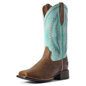 Ariat | Women's Quickdraw Legacy Natural Crunch/Pool Blue - Outback Traders Australia