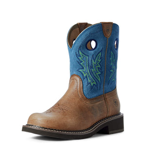 Ariat | Women's Fatbaby Heritage Cowgirl Caramel/Bluebird - Outback Traders Australia