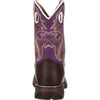 LIL' DURANGO® Kid Big Western Boot Dark Brown/Purple