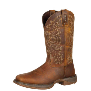Durango® Men's Rebel™ Steel Toe Pull-On Western Boot Brown