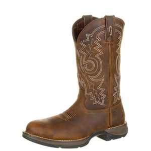 Durango® Men's Rebel™ Steel Toe Waterproof Western Work Boot Brown