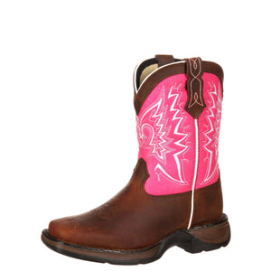 DURANGO® Kids Let Love Fly Western Boot Brown/Pink