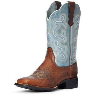 Ariat | Women's Quickdraw Brown Oiled Rowdy/Sapphire Blue