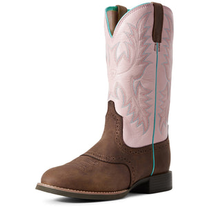 Ariat | Women's Heritage Stockman Driftwood Brown/Pastel Pink