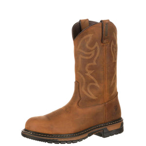 Rocky Men's Original Ride Branson Steel Toe Waterproof Western Boots Aztec Crazy Horse