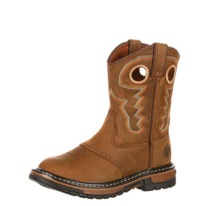 Rocky Kids' Original Ride Western Boot Old Town Brown/Tan