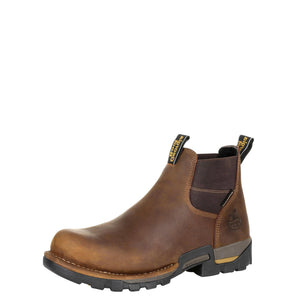 Georgia Men's Boot Eagle One Waterproof Chelsea Work Boot Brown