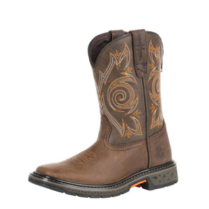 Georgia Kid's Boot Carbo-Tec LT Big Kids Brown Pull-On Boot Brown