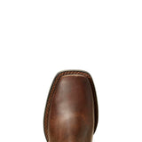 Ariat | Kid's Heritage Roper Wide Square Toe Distressed Brown - Outback Traders Australia