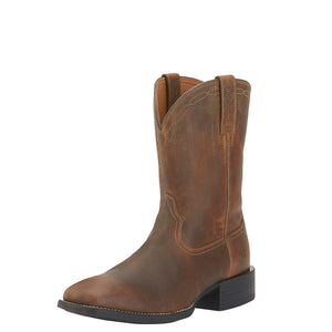 Ariat | Men's Heritage Roper Wide Square Toe Powder Brown - Outback Traders Australia