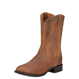 Ariat | Men's Heritage Roper Distressed Brown - Outback Traders Australia