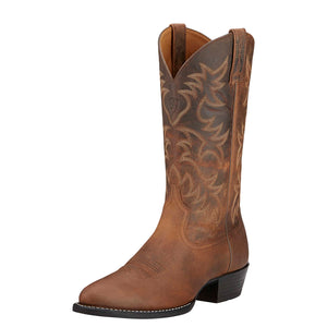 Ariat | Men's Heritage Western R Toe Distressed Brown - Outback Traders Australia