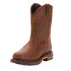 Ariat | Men's WorkHog® Pull-On H2O Oily Distressed Brown - Outback Traders Australia