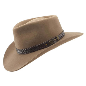 Statesman Hats | Economy Wool Felt | Murchison River | Side | Outback Traders Australia